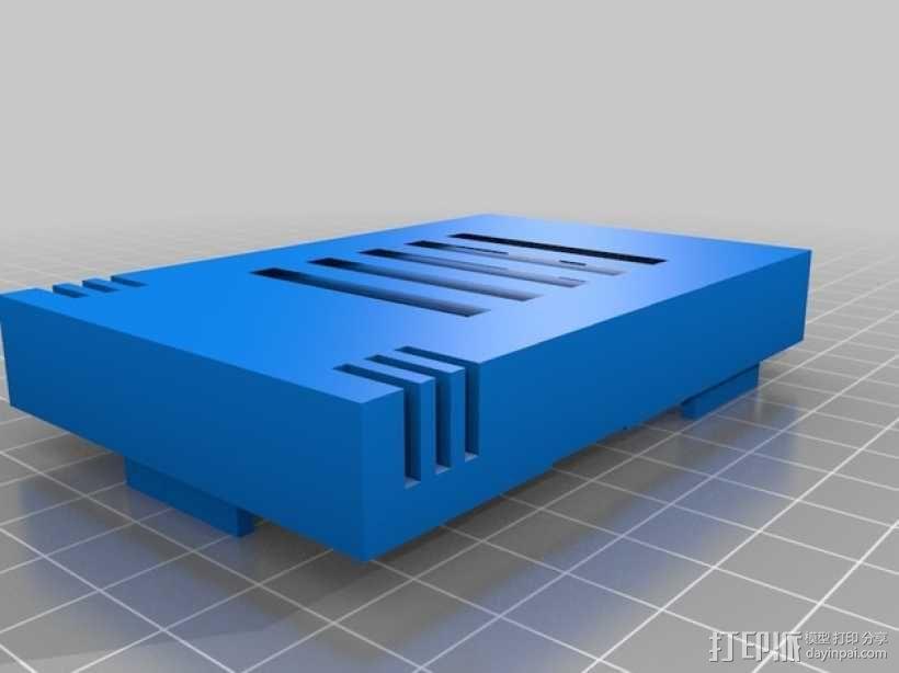 树莓派 B+ 外壳 3D模型  图1