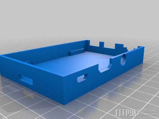 树莓派 B+ 外壳 3D模型  图2