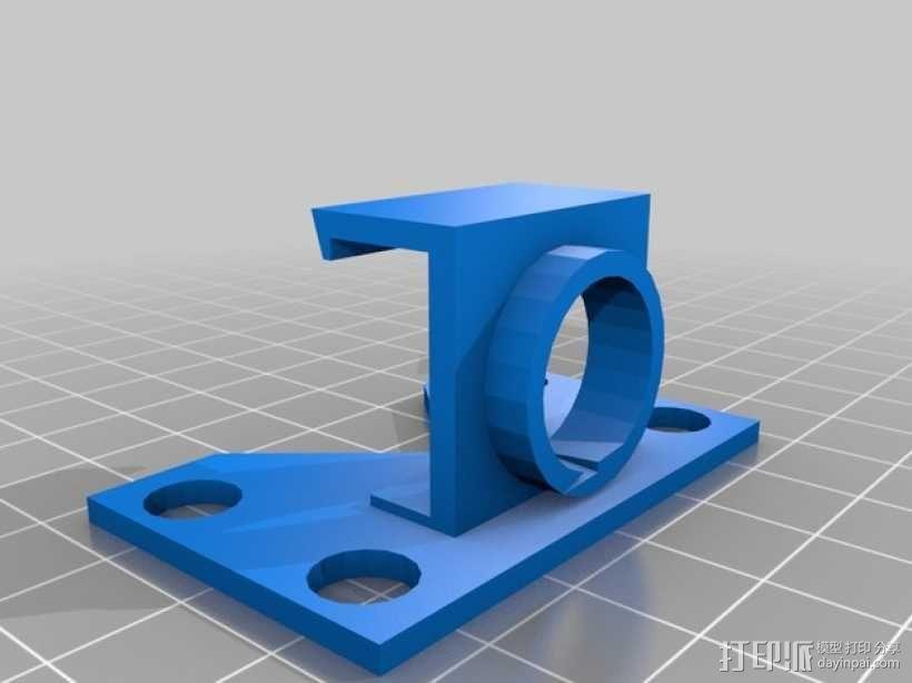 fatshark摄像机支架 3D模型  图2