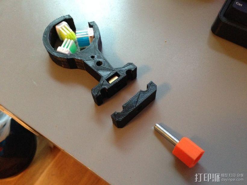 Slingbow 射箭弹弓 支架 3D模型  图4
