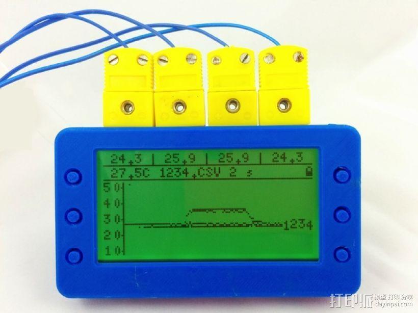 T400温度数据记录仪 3D模型  图1