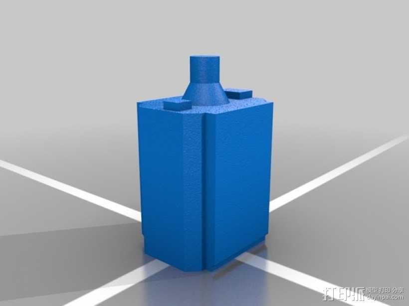 Estes GeoSat LV火箭塑料零部件 3D模型  图7