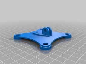 gopro相机固定架 3D模型
