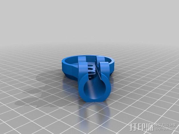 MT3506发动机 支架 3D模型  图2