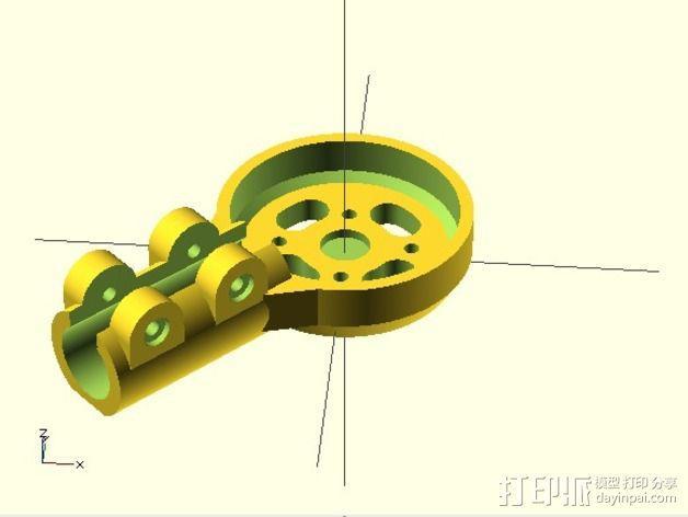 MT3506发动机 支架 3D模型  图8
