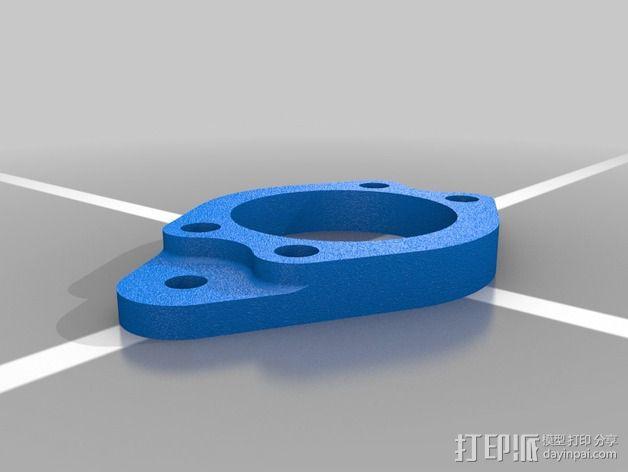 以太网内联耦合器安装面板 3D模型  图2