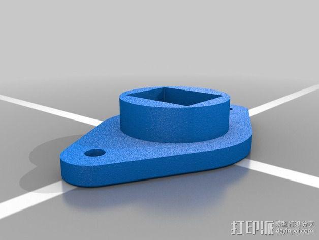 以太网内联耦合器安装面板 3D模型  图3