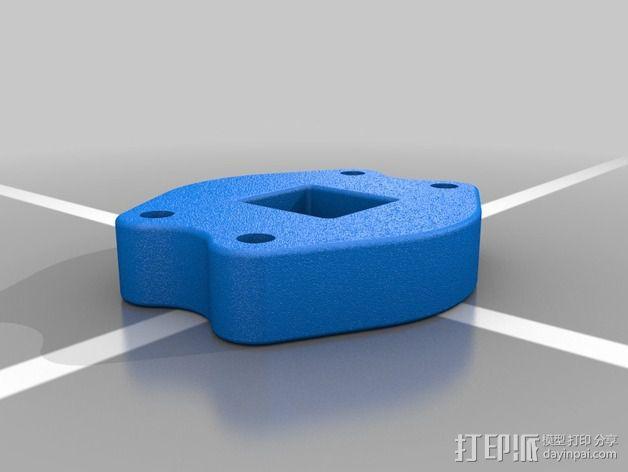 以太网内联耦合器安装面板 3D模型  图4