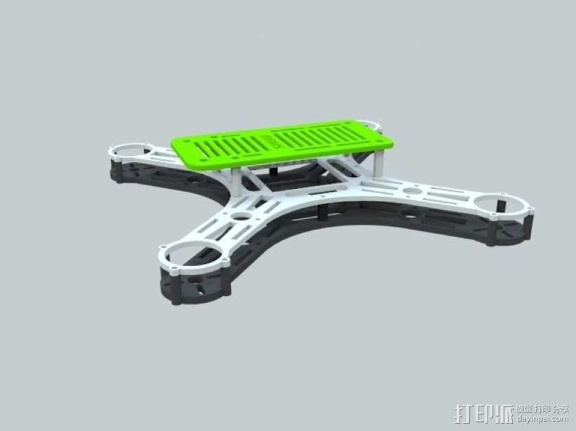 迷你四轴飞行器 框架 3D模型  图1