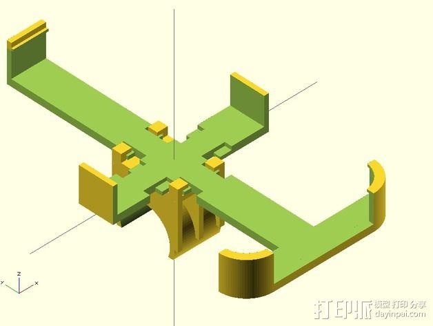 iPhone 4/4s/5/5c/5s脚踏车固定夹 3D模型  图2