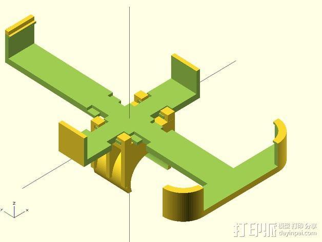 iPhone 4/4s/5/5c/5s脚踏车固定夹 3D模型  图3