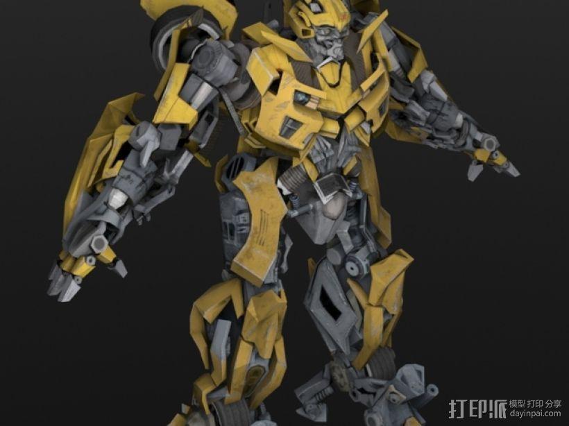 《变形金刚 》大黄蜂 3D模型  图1