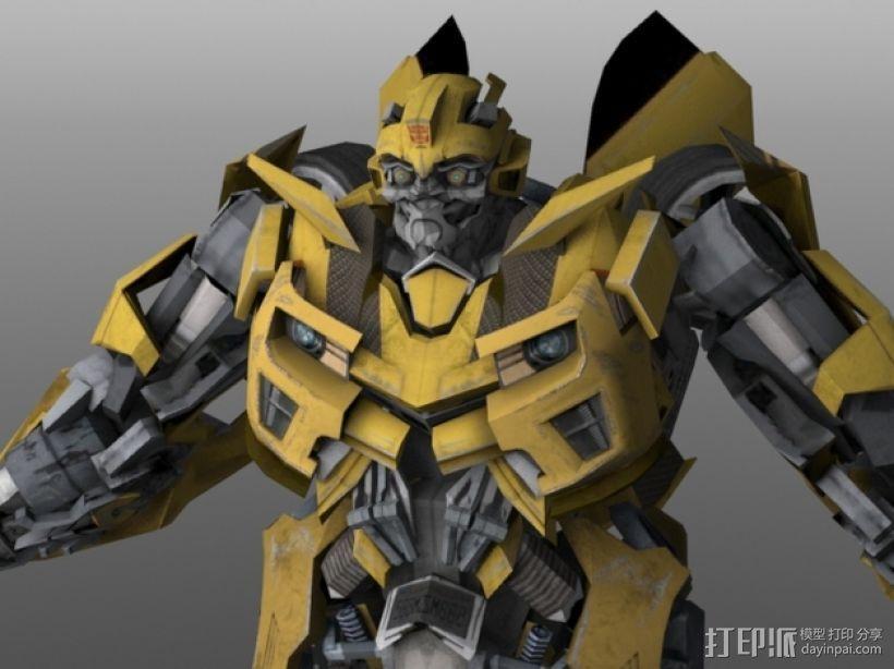 《变形金刚 》大黄蜂 3D模型  图7