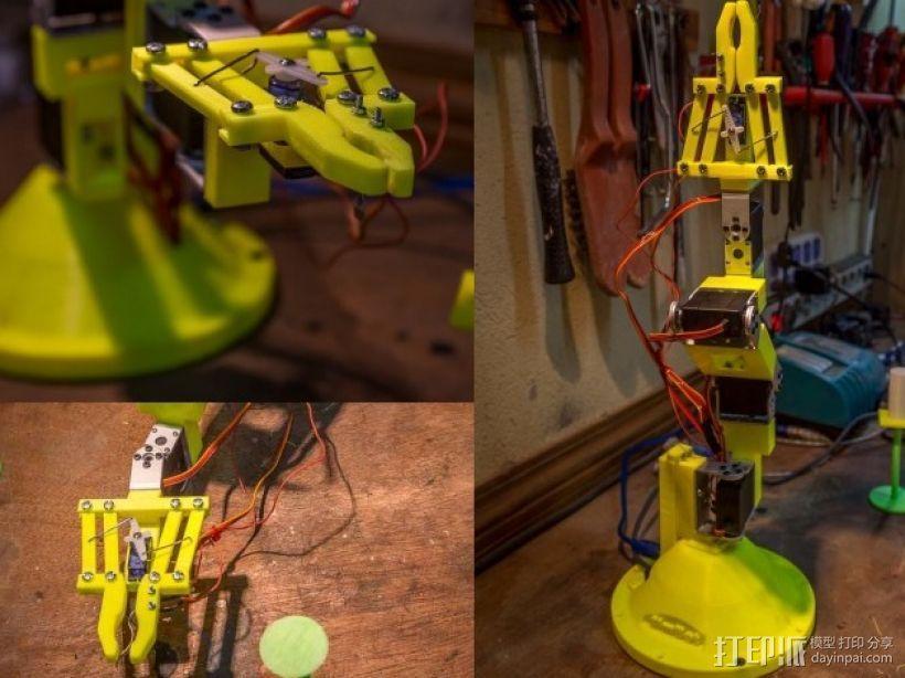 双臂机器人  3D模型  图1