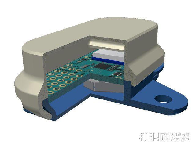 蓝光电路板外壳 3D模型  图2