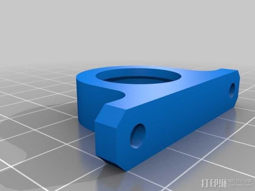 608滑板轴承轴台 3D模型  图2
