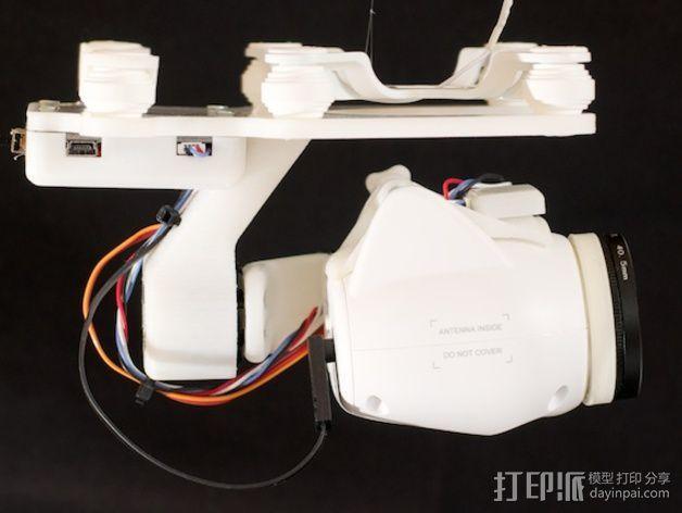 Phantom 2相机2D平衡环 3D模型  图4