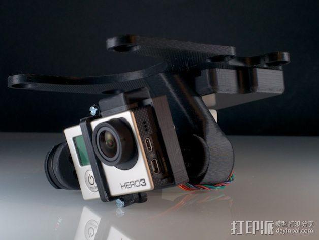 Phantom 2相机2D平衡环 3D模型  图2