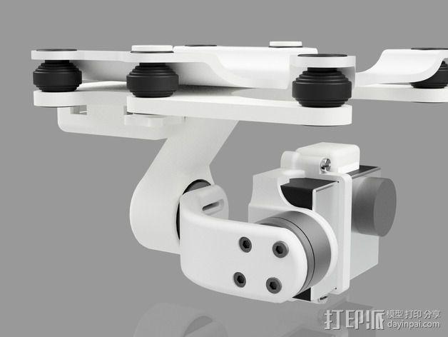 Phantom 2相机2D平衡环 3D模型  图6