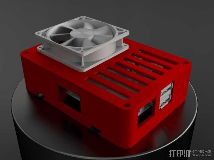 便携式树莓派电路板外壳 3D模型  图1