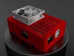 便携式树莓派电路板外壳 3D模型