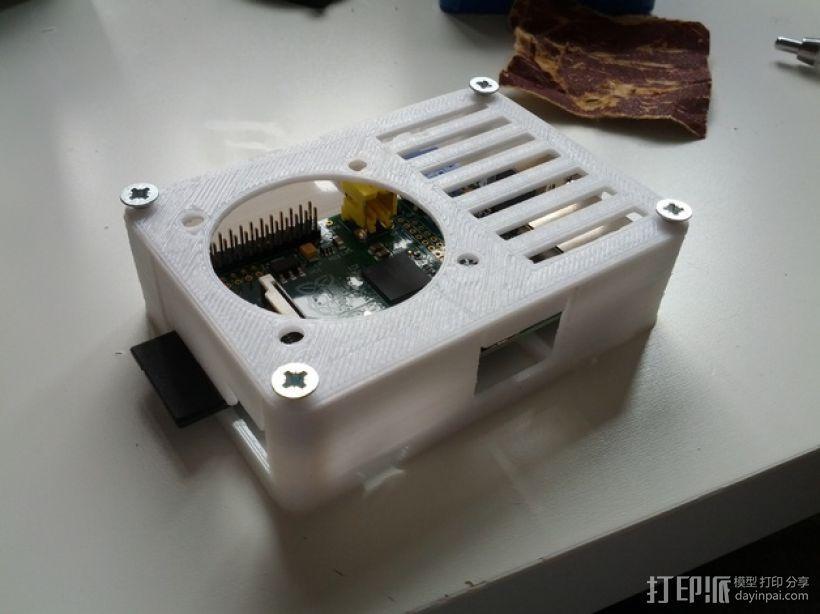 便携式树莓派电路板外壳 3D模型  图4