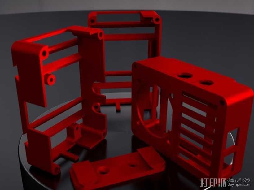 便携式树莓派电路板外壳 3D模型  图2