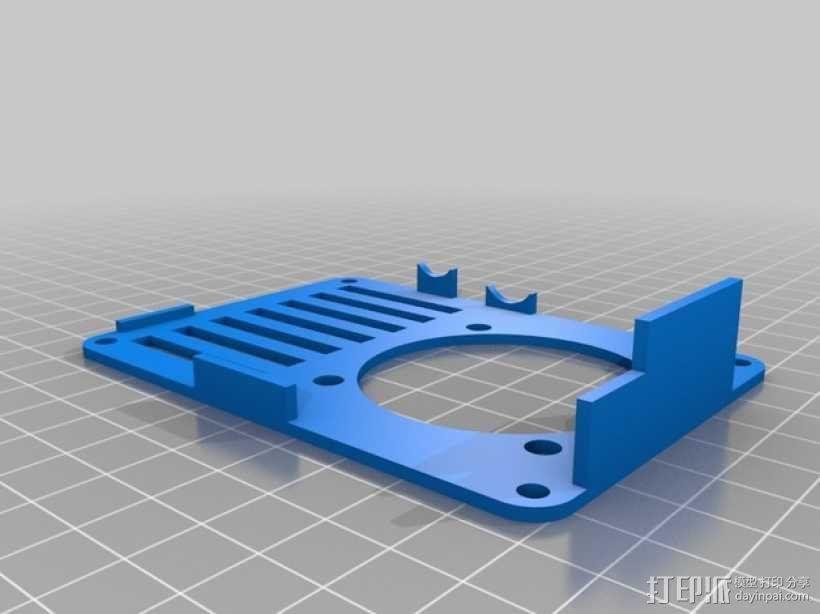 便携式树莓派电路板外壳 3D模型  图8
