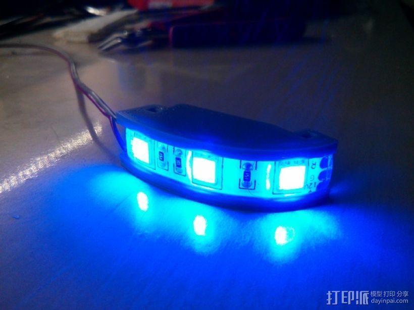 DJI F550-LED 条形安装槽 3D模型  图1