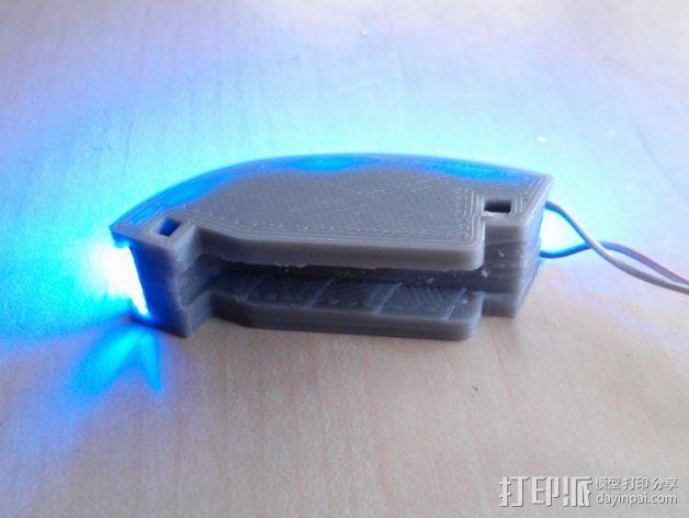 DJI F550-LED 条形安装槽 3D模型  图4
