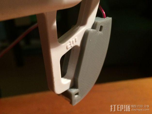 DJI F550-LED 条形安装槽 3D模型  图6