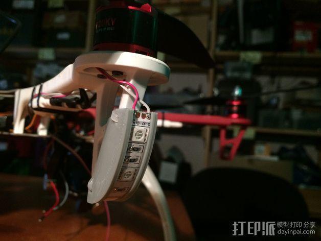 DJI F550-LED 条形安装槽 3D模型  图7