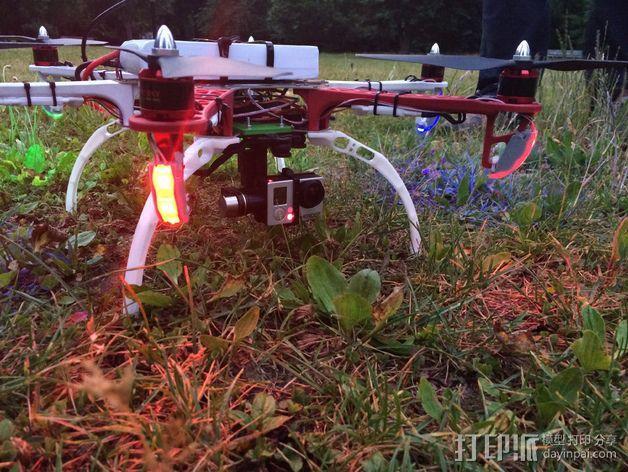 DJI F550-LED 条形安装槽 3D模型  图12