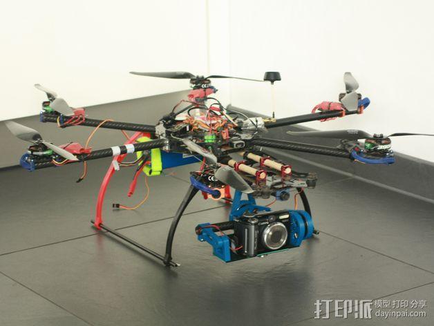 相机平衡环 3D模型  图4