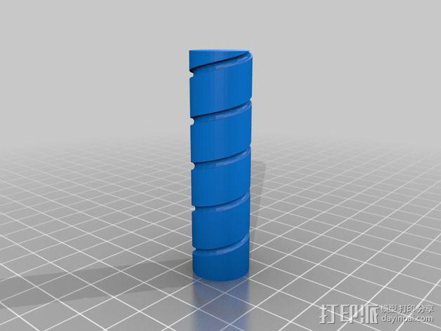 螺旋天线架 3D模型  图2