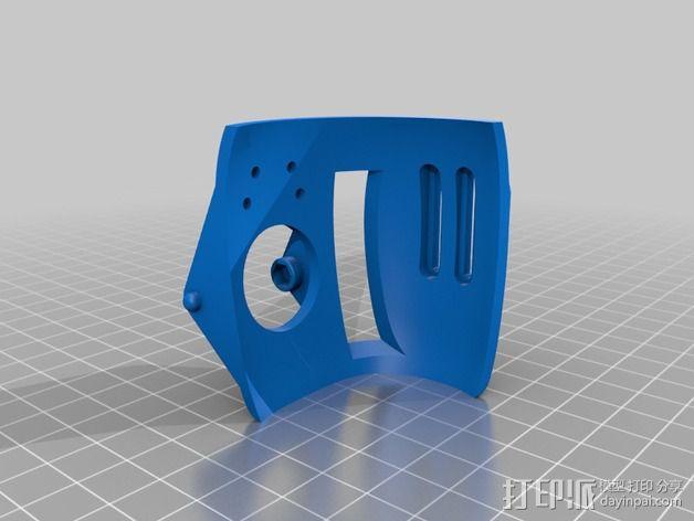 DJI Phantom 2摄像机两轴平衡环 3D模型  图4