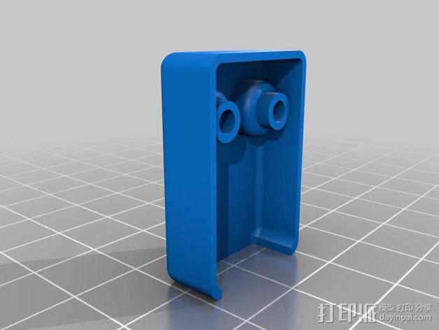 DJI Phantom 2摄像机两轴平衡环 3D模型  图10