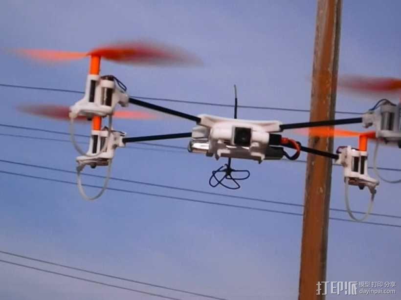 迷你fpv四轴飞行器组件 3D模型  图1