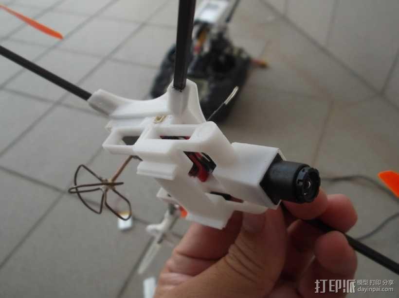 迷你fpv四轴飞行器组件 3D模型  图4