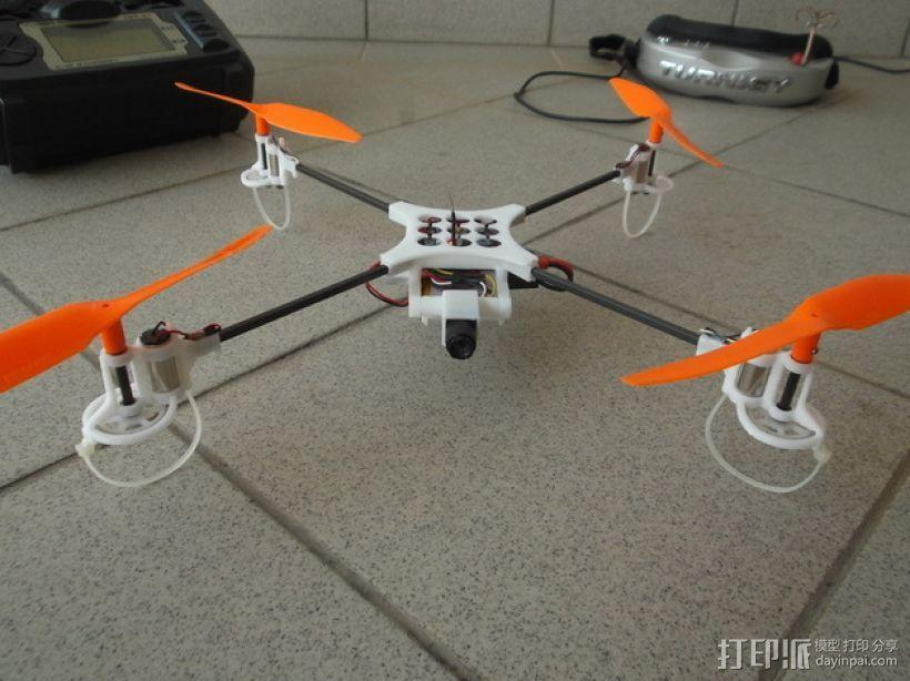 迷你fpv四轴飞行器组件 3D模型  图2