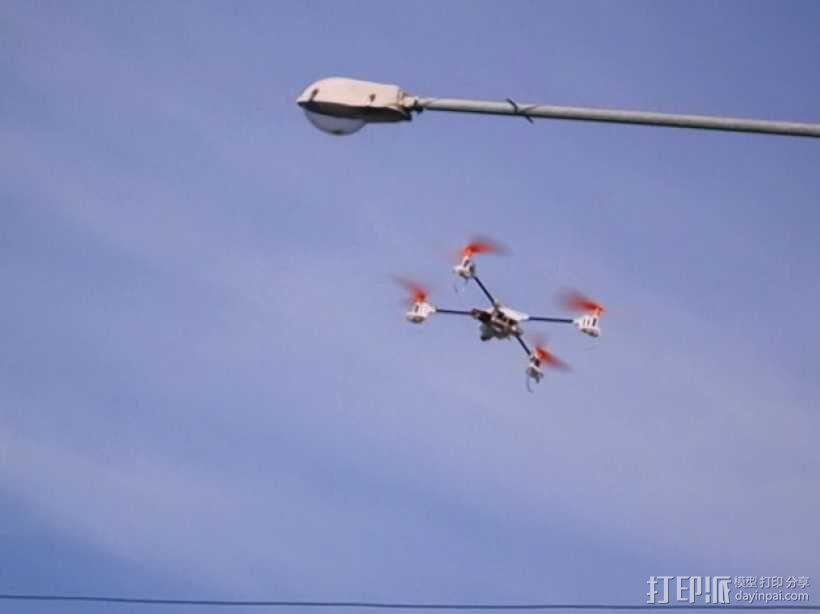 迷你fpv四轴飞行器组件 3D模型  图5