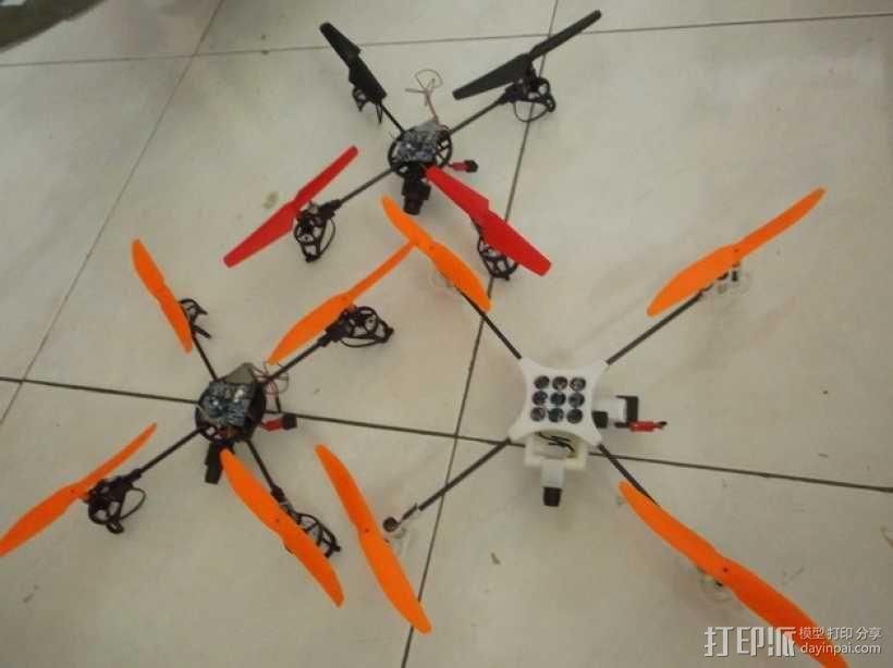迷你fpv四轴飞行器组件 3D模型  图12