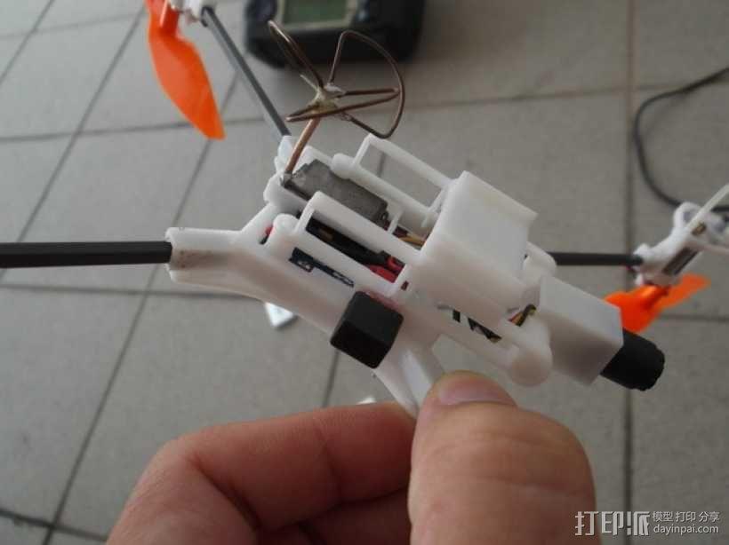 迷你fpv四轴飞行器组件 3D模型  图10