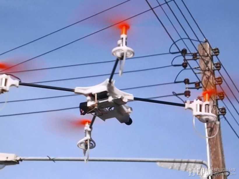 迷你fpv四轴飞行器组件 3D模型  图15