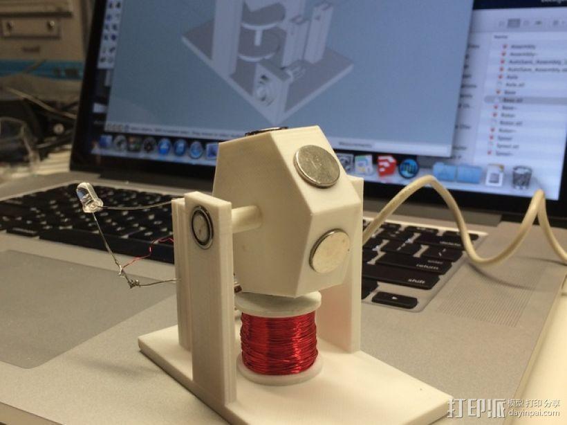 3D打印单线圈脉冲电机 3D模型  图1