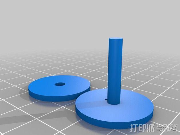 3D打印单线圈脉冲电机 3D模型  图3