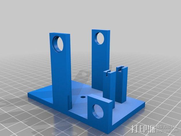 3D打印单线圈脉冲电机 3D模型  图2