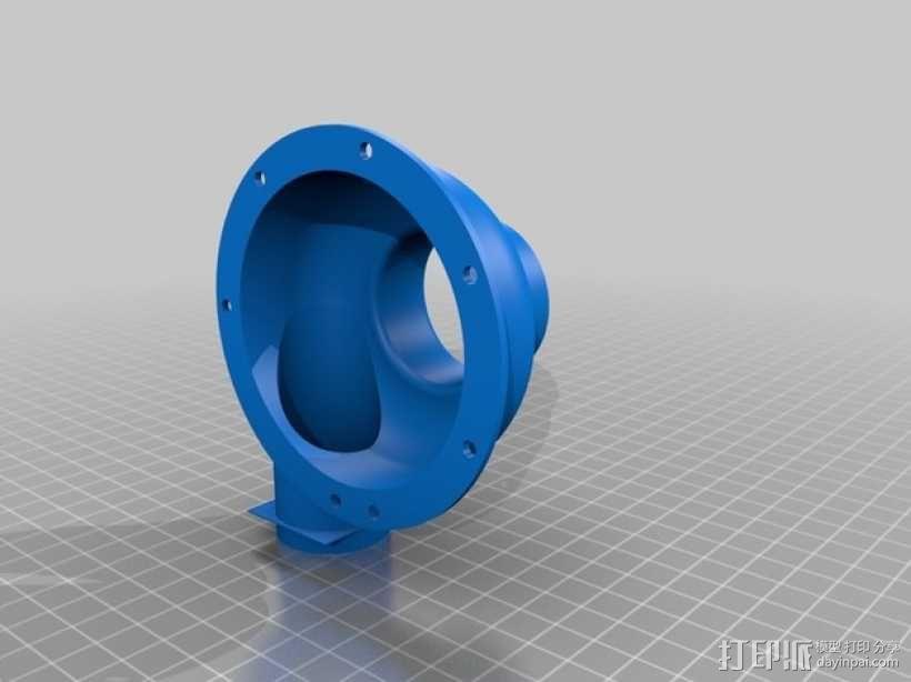 涡轮鼓风机  3D模型  图3