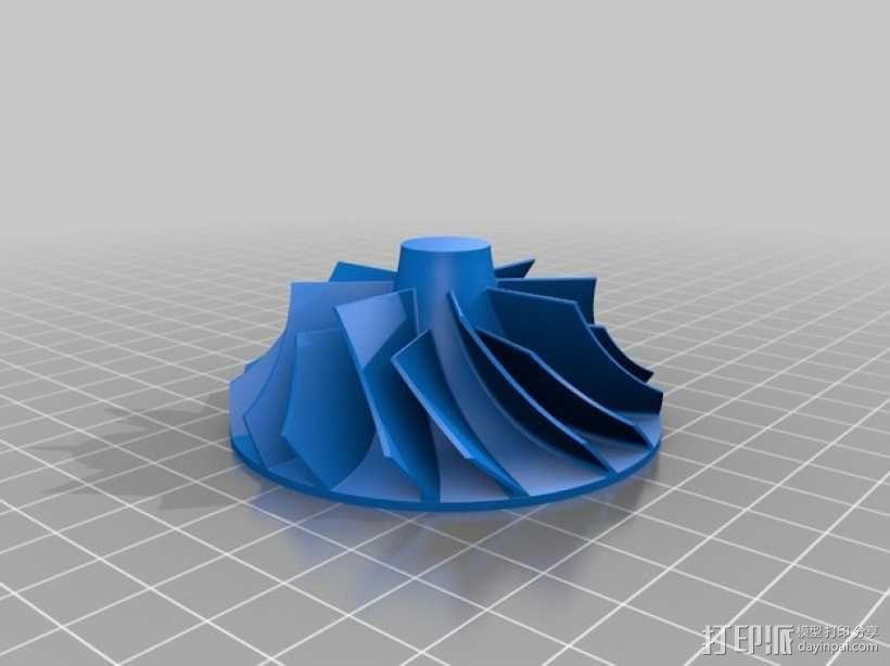 涡轮鼓风机  3D模型  图4