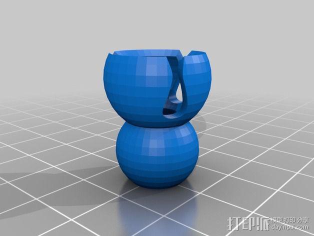 爆米花连接器 3D模型  图2